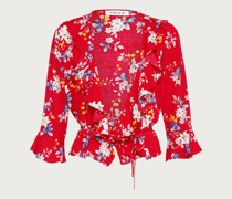 Wickelbluse 'Anike' rot