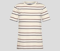 T-Shirt 'Leila' braun/weiß
