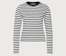 Langarmshirt 'Pixie' schwarz/weiß