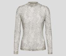 Shirt 'Amou' beige/schwarz