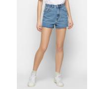 Shorts 'Thoe' blau/silber