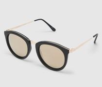Sonnenbrille 'No Smirking' gold/schwarz