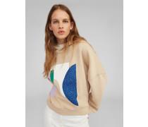 Sweatshirt 'Cherell' beige