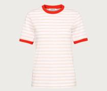 T-Shirt 'Leonie' pink/weiß