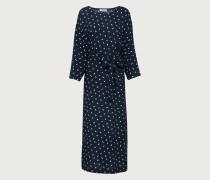 Kleid 'Aurelien' blau/weiß