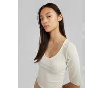 Shirt 'Fray' beige