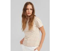 Shirt 'Leila' weiß/beige