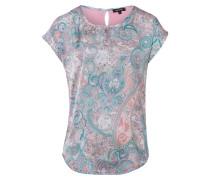 T-Shirt türkis / rosa