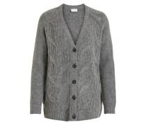 Cardigan 'Viseven Knit L/s' graumeliert