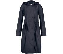 Ausgestellter Mantel indigo