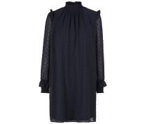 Stehkragen-Kleid nachtblau