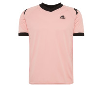 T-Shirt 'authentic Ramzy' pink / schwarz