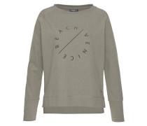 Sweatshirt 'Richi' oliv / schwarz