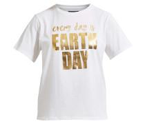 T-Shirt gold / weiß