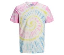 T-Shirt 'Batik' pink / blau / gelb