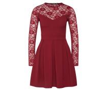 Kleid 'Lace Insert Long Sleeve Skater Dress'