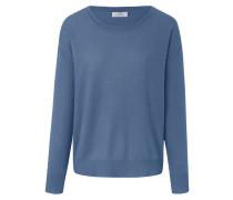 Rundhals-Pullover blau / hellblau