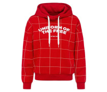 Sweatshirt 'Lynaz' rot / weiß