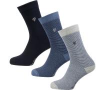 Socken 'Svea' blau / kobaltblau / grau