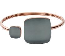 Armspange 'Sea Glass' rosegold / basaltgrau