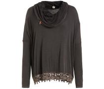 Shirt 'tazi' dunkelbraun / schwarzmeliert