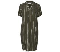 Viskose-Kleid dunkelgrün