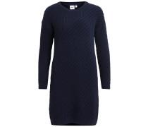 Strick-Kleid dunkelblau