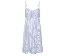 Kleid 'shine' blau / weiß
