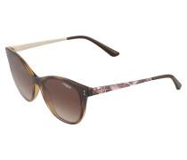 Sonnebrille im Cateye-Design braun