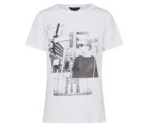 T-Shirt mit Frontprint weiß