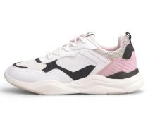 Sneaker weiß / schwarz / hellpink