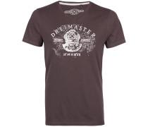 T-Shirt mokka / weiß