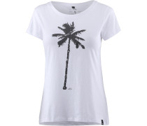 T-Shirt 'the Palm' weiß