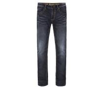 Jeans mit zweifarbigen Nähten