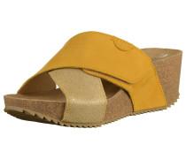 Pantoletten sand / gelb