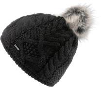 Mirella Bommelmütze Damen grau / schwarz