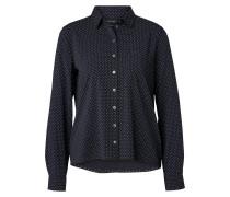 Bluse nachtblau / hellblau / weiß