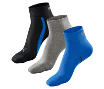 Socken schwarz / blau / grau