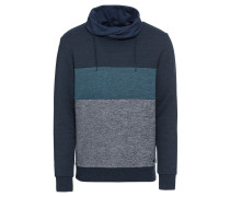 Sweatshirt 'colorblock' blau