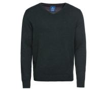 Pullover 'basic v-neck sweater' tanne