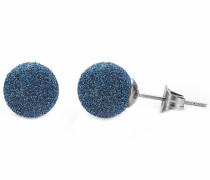 Paar Ohrstecker blau / silber