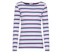 Shirt blau / helllila / weiß