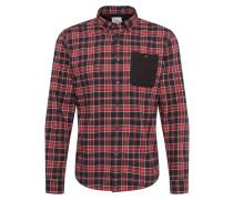 Hemd 'F flannel check' rot / schwarz