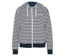 Kapuzensweater navy / weiß