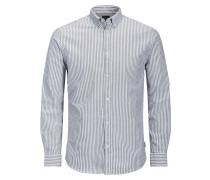 Klassisches Langarmhemd blau / weiß