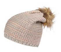 Strickmütze 'pcflea' beige / rosa