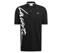 Poloshirt 'chemise' schwarz / weiß