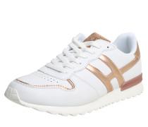 Sneaker im Retro-Look bronze / weiß