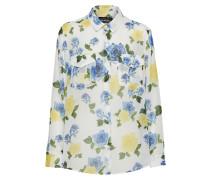 Bluse blau / gelb / weiß