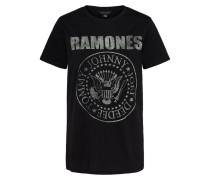 T-Shirt 'ramones Tee' schwarz